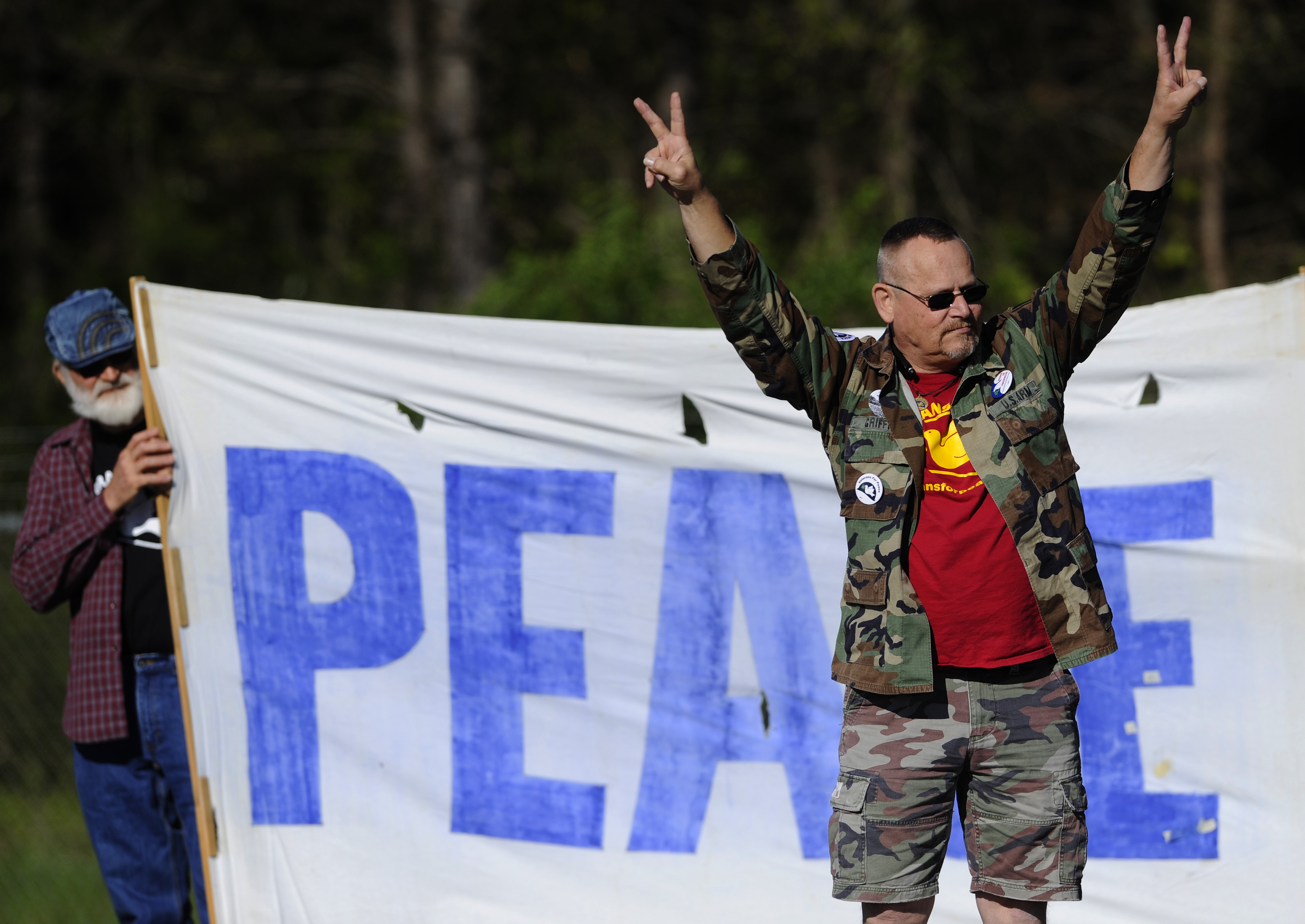 Peace Protesters Outside Redstone Arsenal Gate
