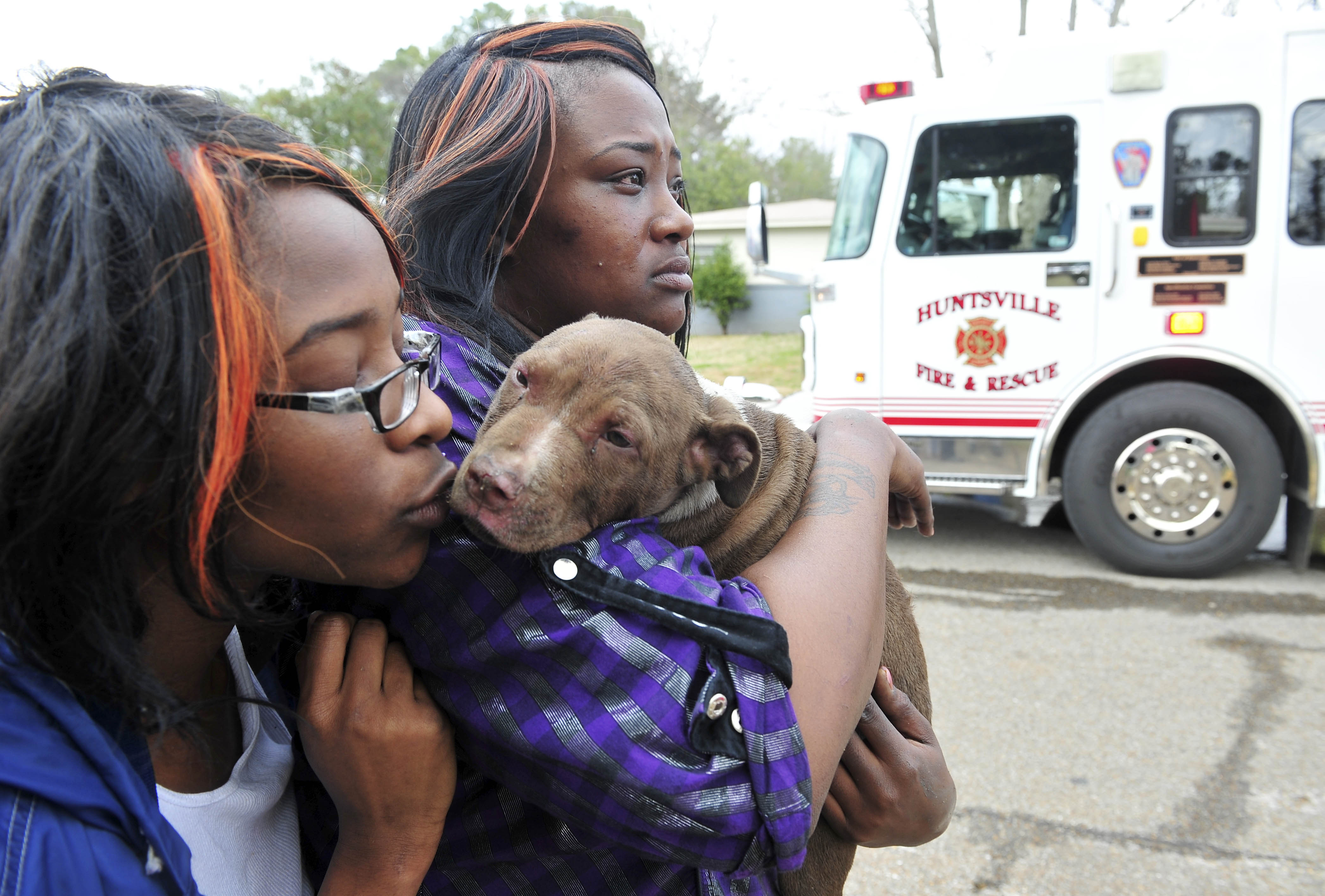 Puppy Rescued At Griffith Drive House Fire