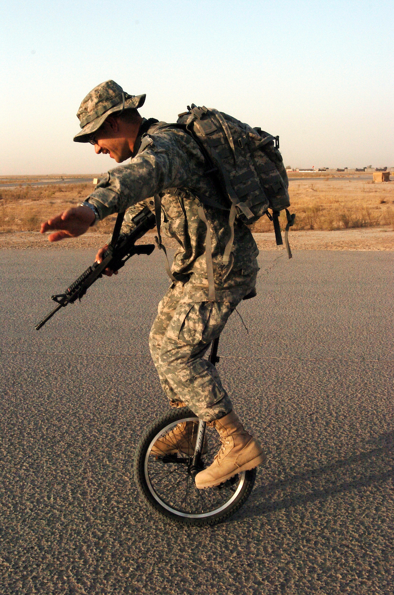 Iraq On One Wheel